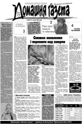 Домашня газета №16 04/2016